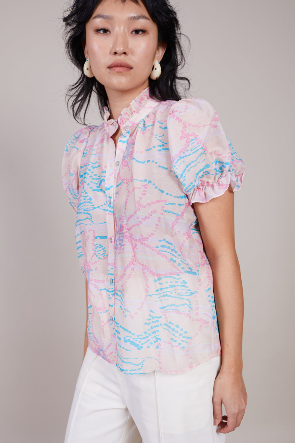 Spirit Blouse in Peach Floral
