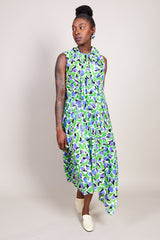 Christian Wijnants Dican Dress in Green Lotus - Vert & Vogue
