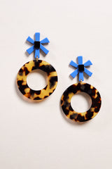 Apres Ski Note Earring in Tortoise - Vert & Vogue