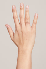 Xiao Wang Dot Dot Arc Ring - Vert & Vogue