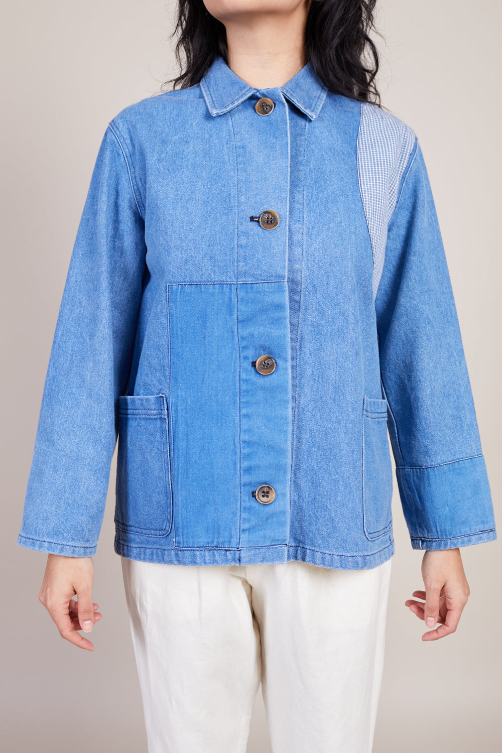 Caron Callahan Krasner Jacket in Denim - Vert & Vogue