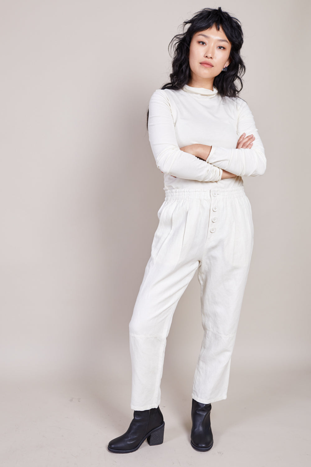 Fara Easy Pant in Cream