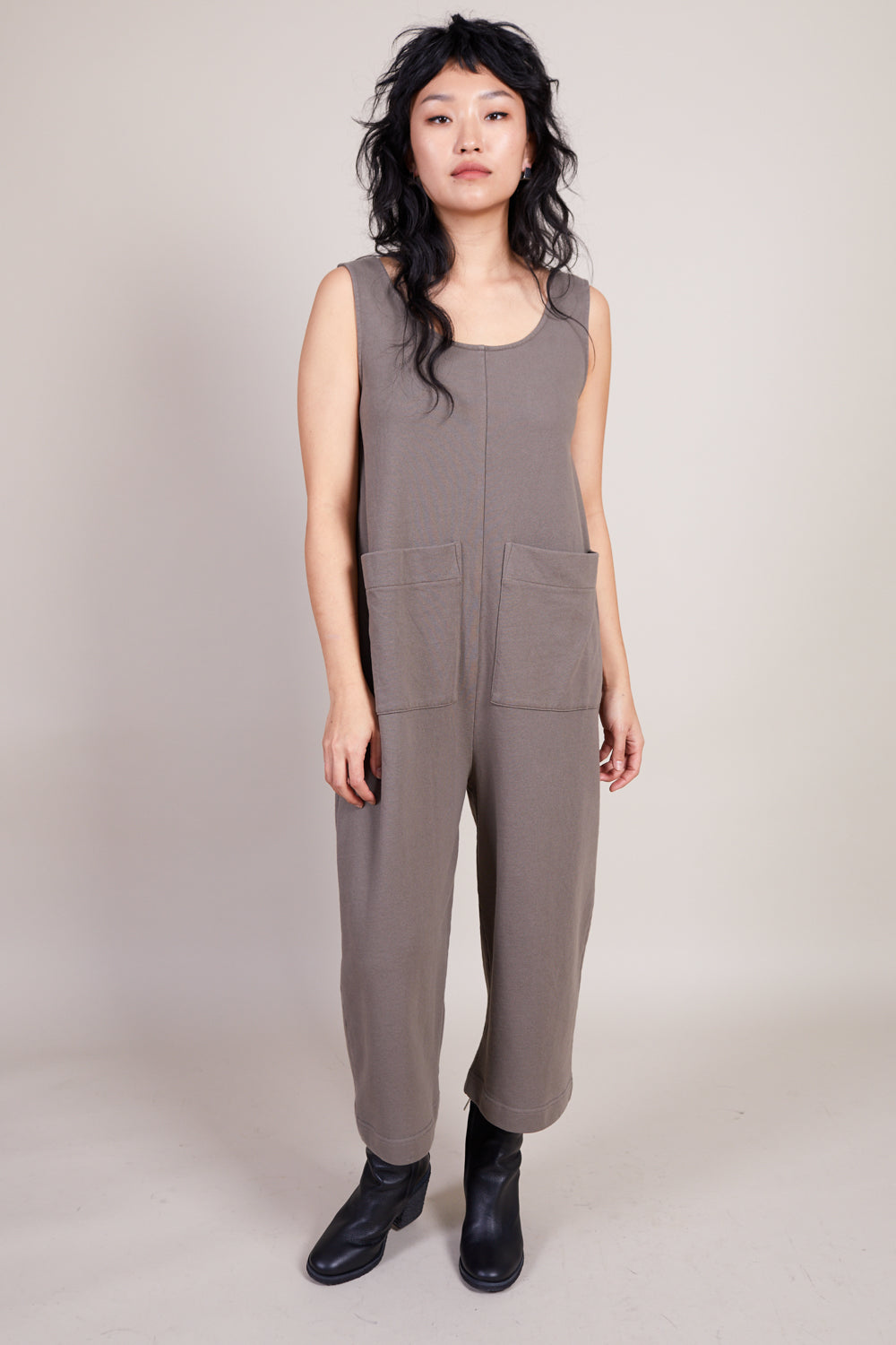 Ilana Kohn Wendy Jumpsuit in Peat - Vert & Vogue