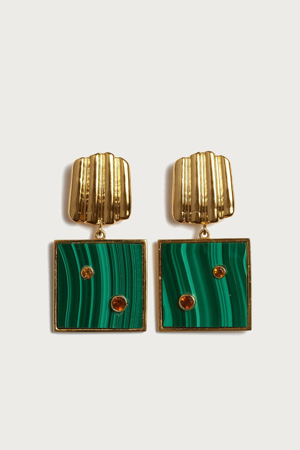 Lizzie Fortunato Green Wave Earrings - Vert & Vogue