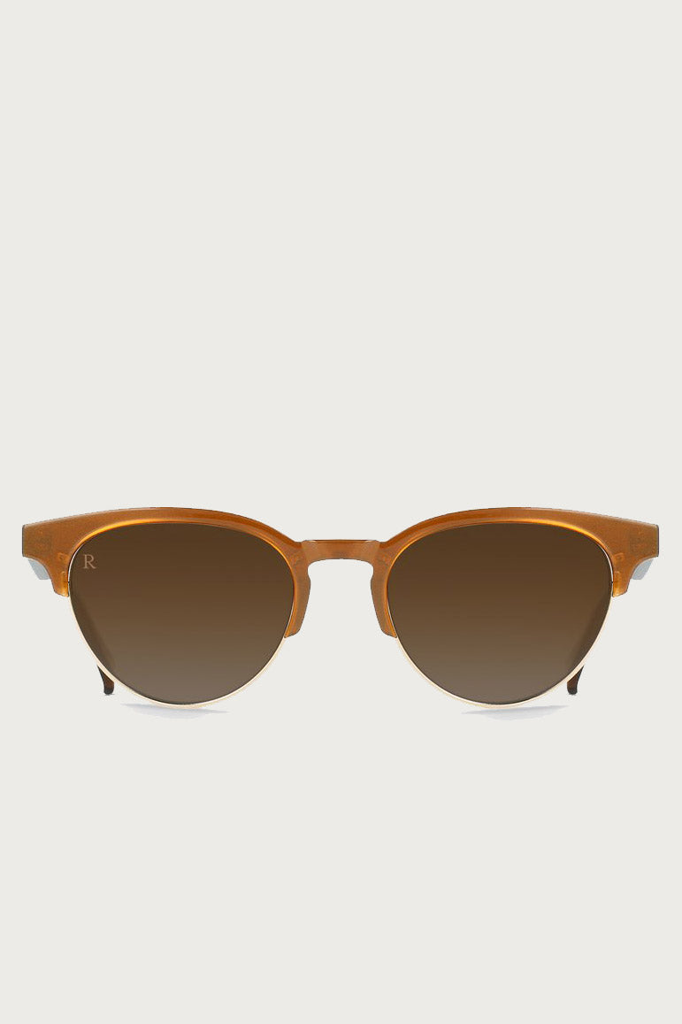 Getz Sunglasses in Metallic Brass