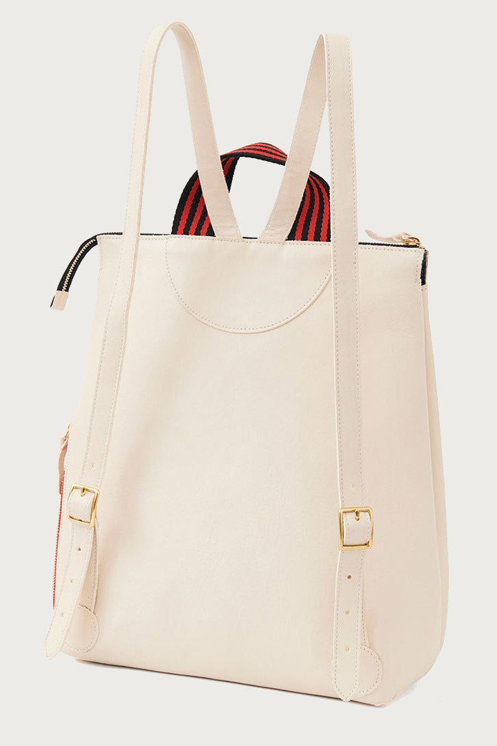 Clare V Remi Backpack in White - Vert & Vogue