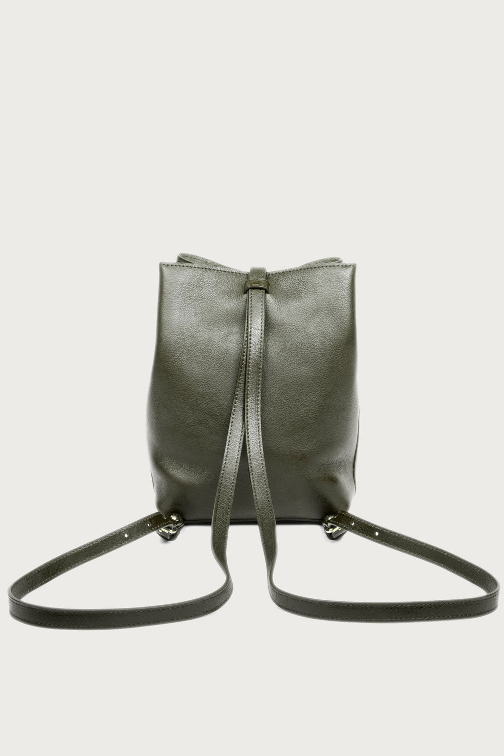 Lotuff Leather The Mini Sling Bag in Olive - Vert & Vogue