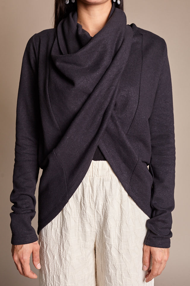 Tabard Cardigan in Black