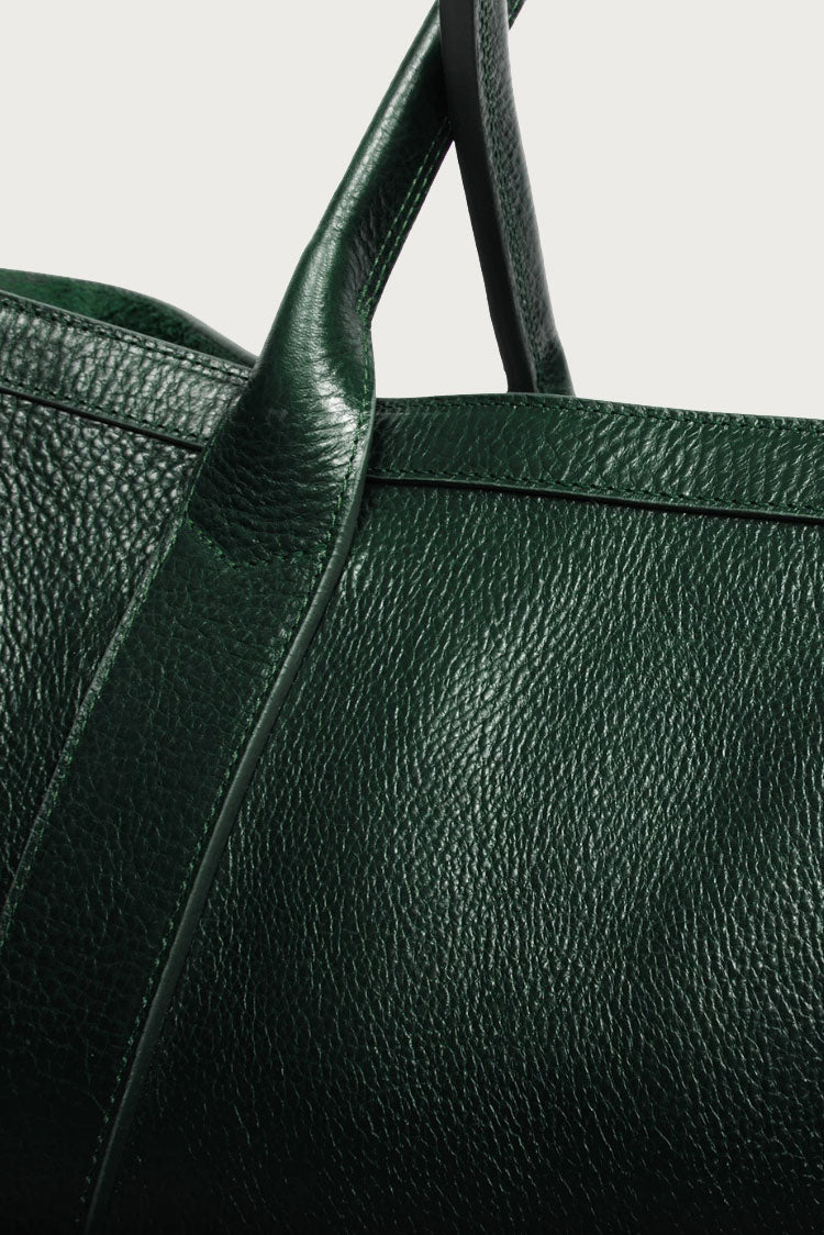 Lotuff Leather The Working Tote in Green - Vert & Vogue