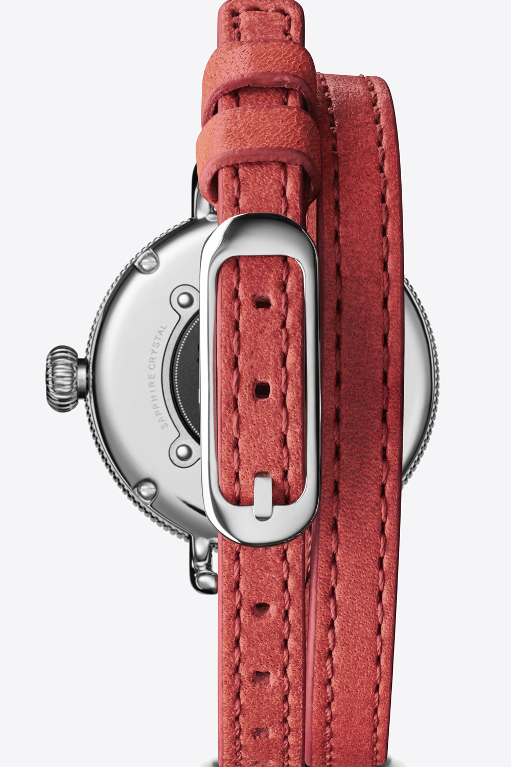 Shinola Birdy 34mm Watch in Red Coral - Vert & Vogue
