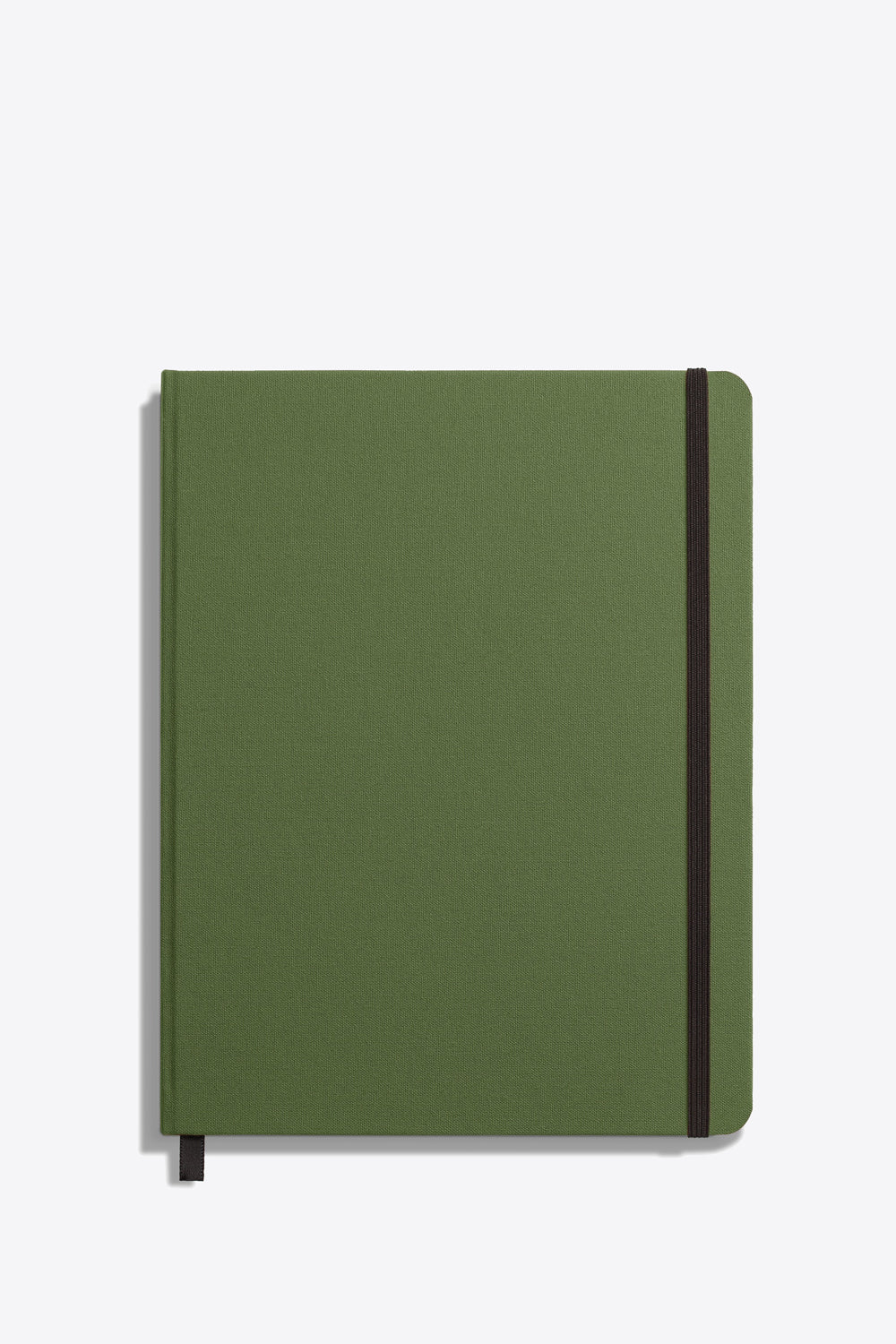 Large Hard Ruled Journal in Olive