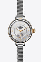 Shinola Birdy 34mm Watch in Silver - Vert & Vogue