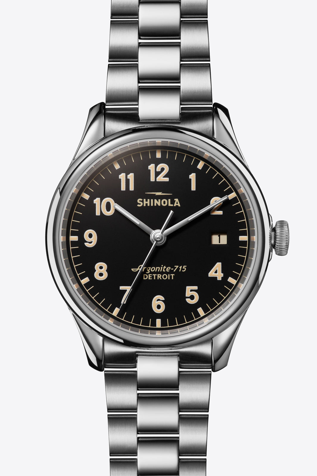 Vinton 38mm Watch in Black/Silver