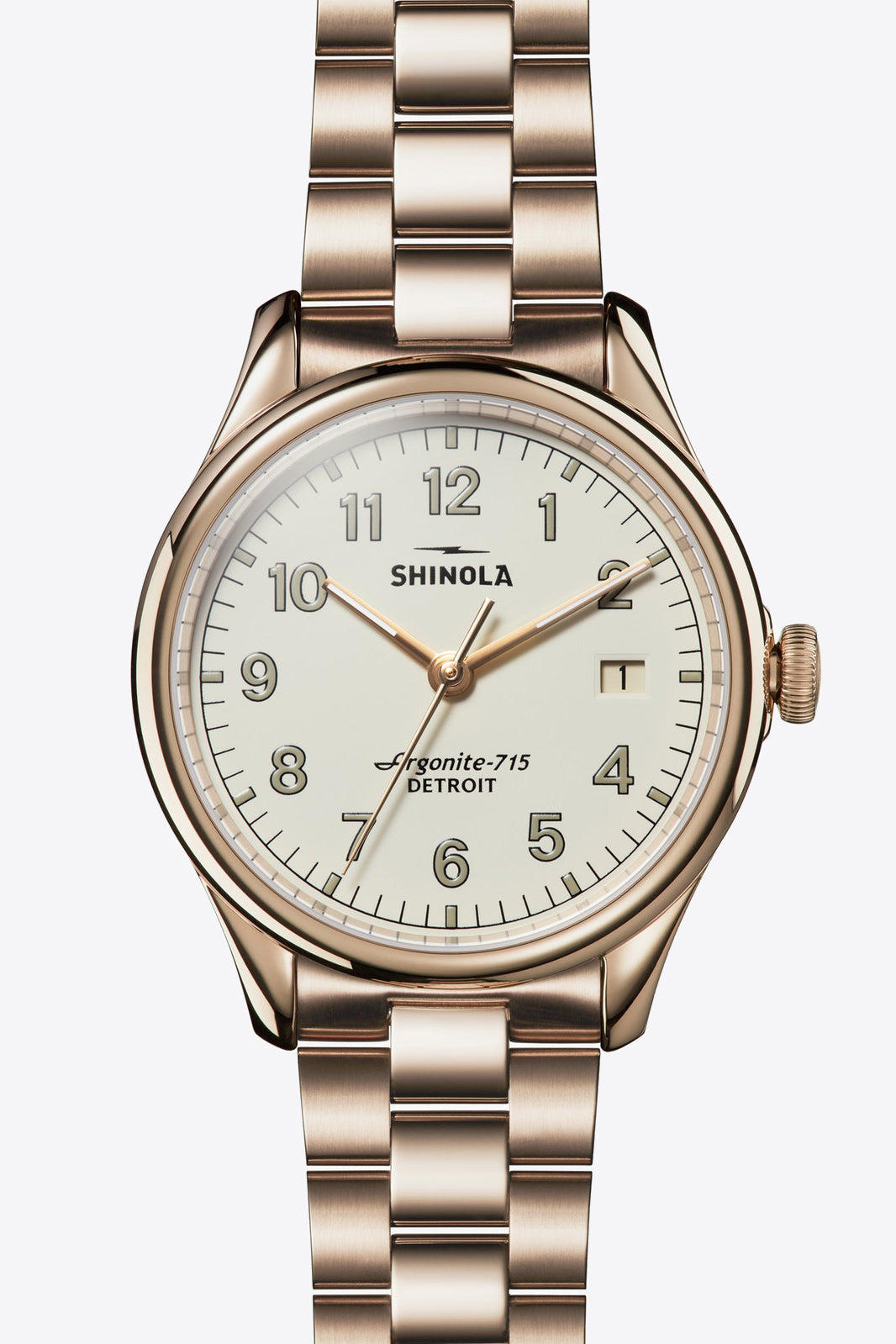 Vinton 38mm Watch in Light Gold