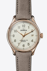 Shinola Vinton 38mm Watch in Heather Gray - Vert & Vogue