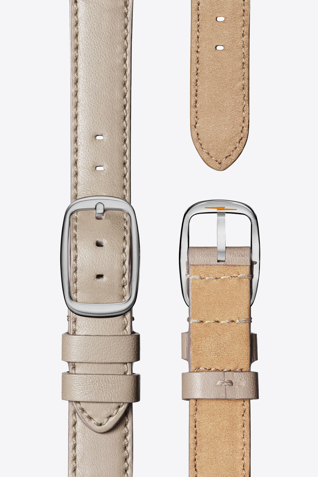 Shinola Cass Square 28mm Sub Second Watch in Milky White/Bone - Vert & Vogue