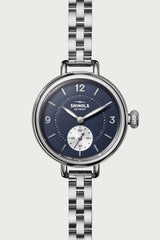 Birdy 34mm Sub Second Watch in Midnight Blue/Silver