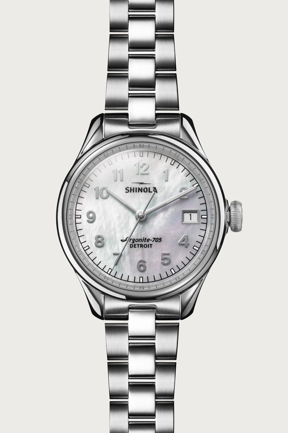 Vinton 32mm Watch in White Mother of Pearl
