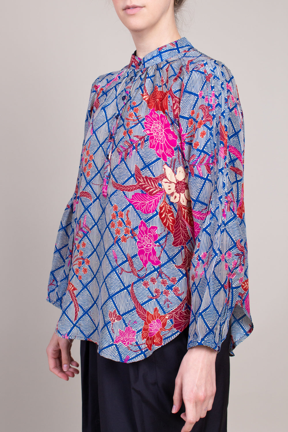 Apiece Apart Core Bravo Top in Indo Batik - Vert & Vogue