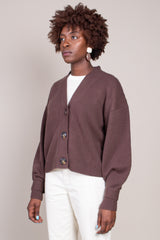 Tiberine Cardigan in Dark Brown