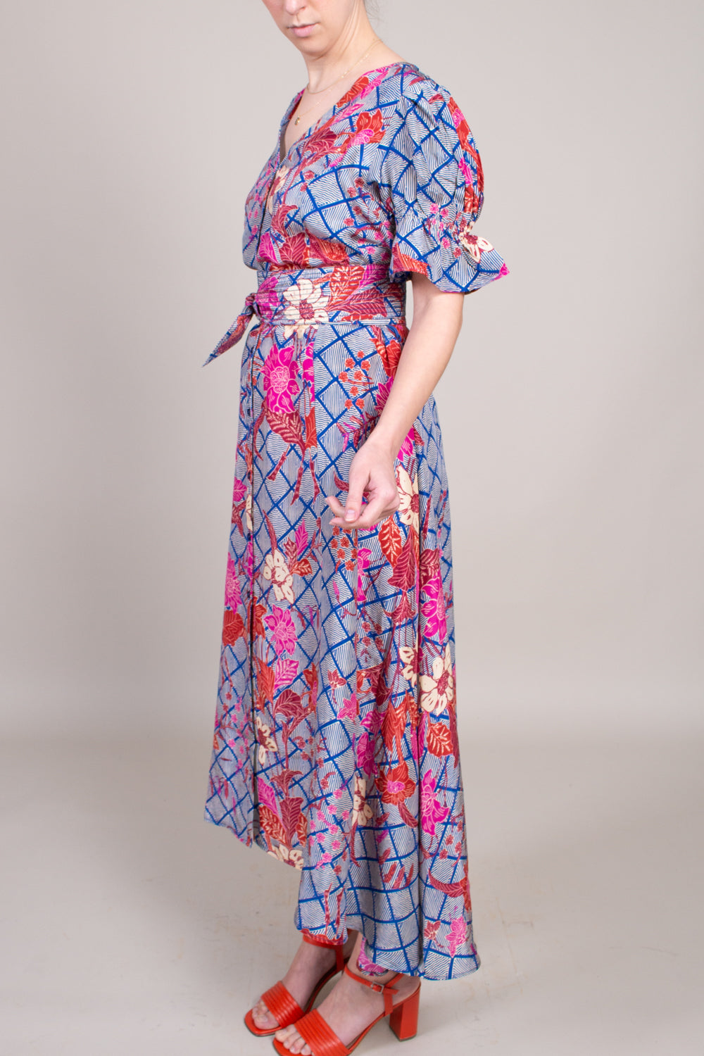Apiece Apart Monterossa Dress in Indo Batik - Vert & Vogue