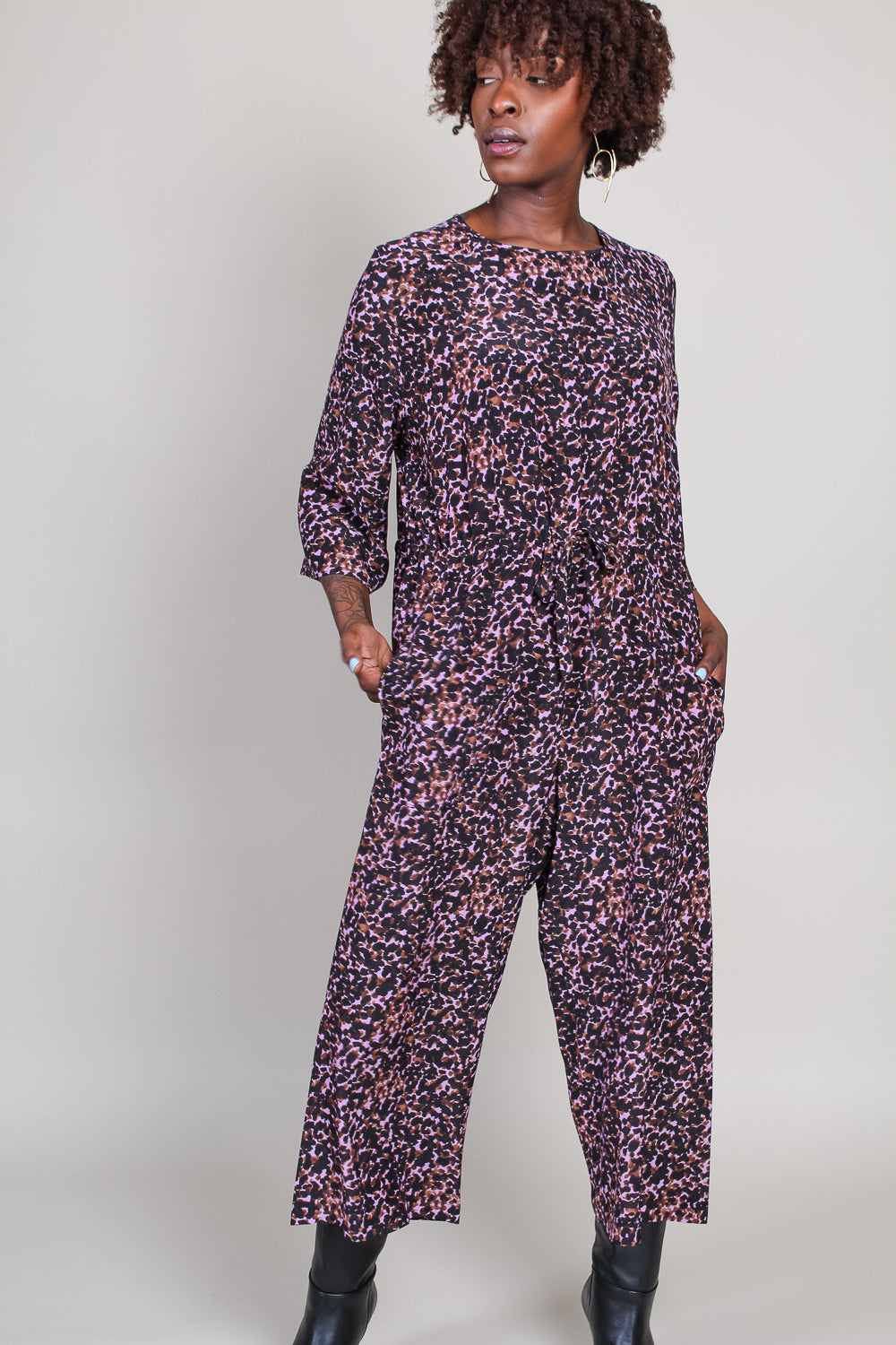 Ida Jumpsuit in Pink Jungle