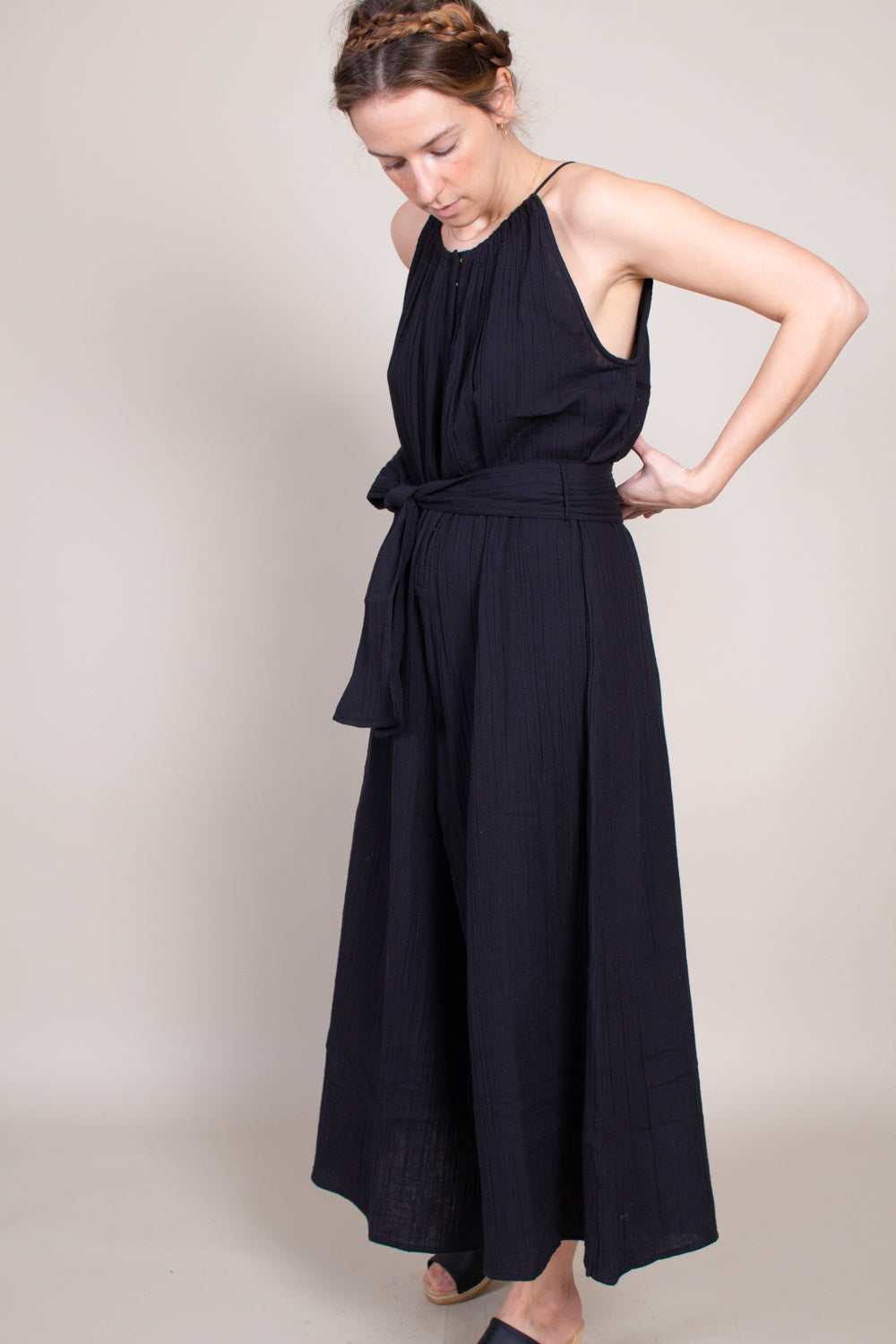 Apiece Apart Sleeveless Isla Jumpsuit in Black - Vert & Vogue