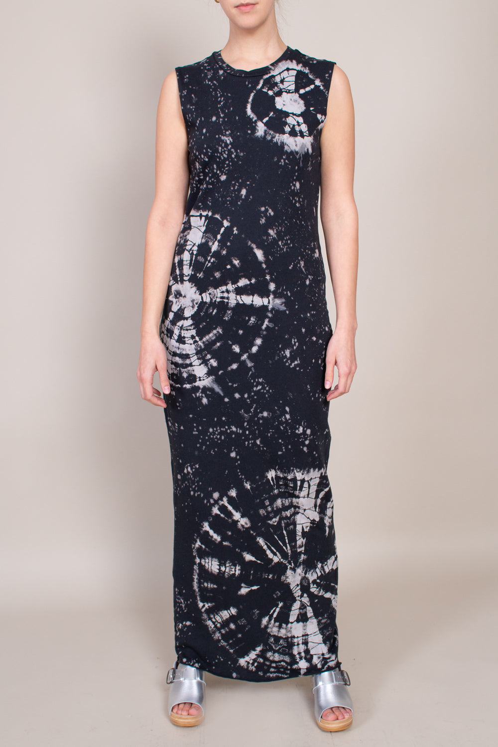 Muscle Maxi Dress in Black Constellation