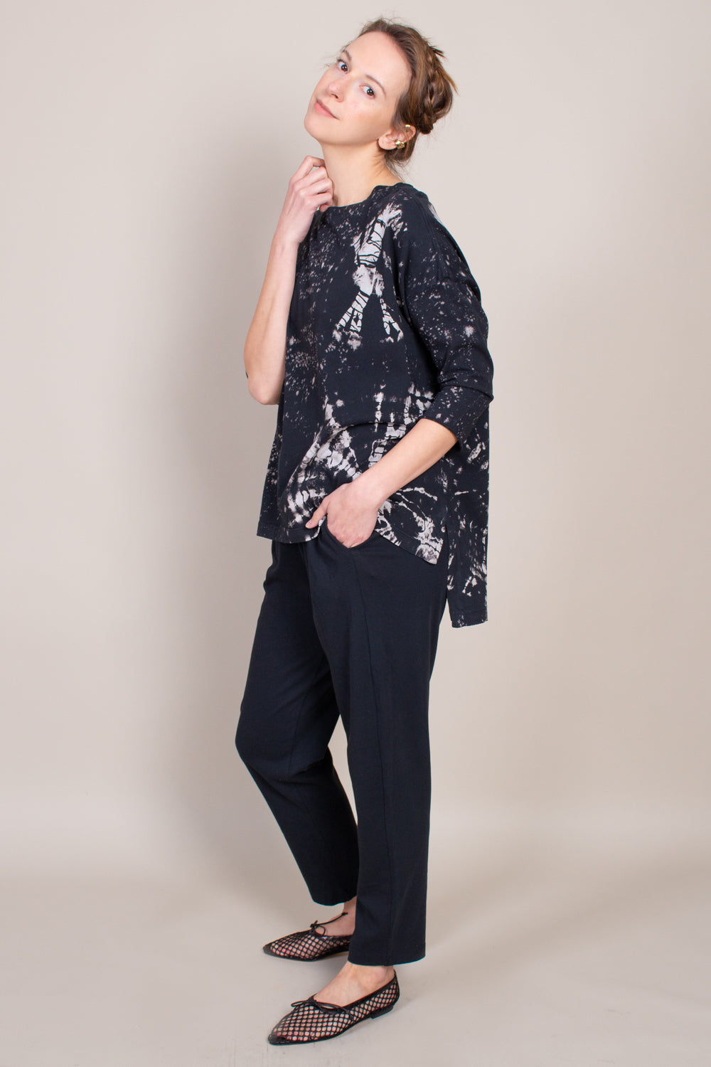 New Cocoon Top in Black Constellation