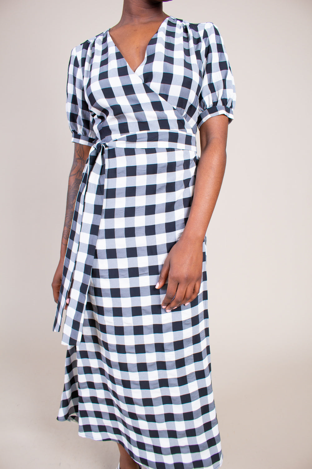 Lucia Dress in Black & White Gingham