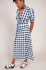 No.6 Lucia Dress in Black & White Gingham - Vert & Vogue