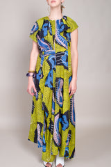 Christian Wijnants Diji Dress in Yellow Paisley - Vert & Vogue