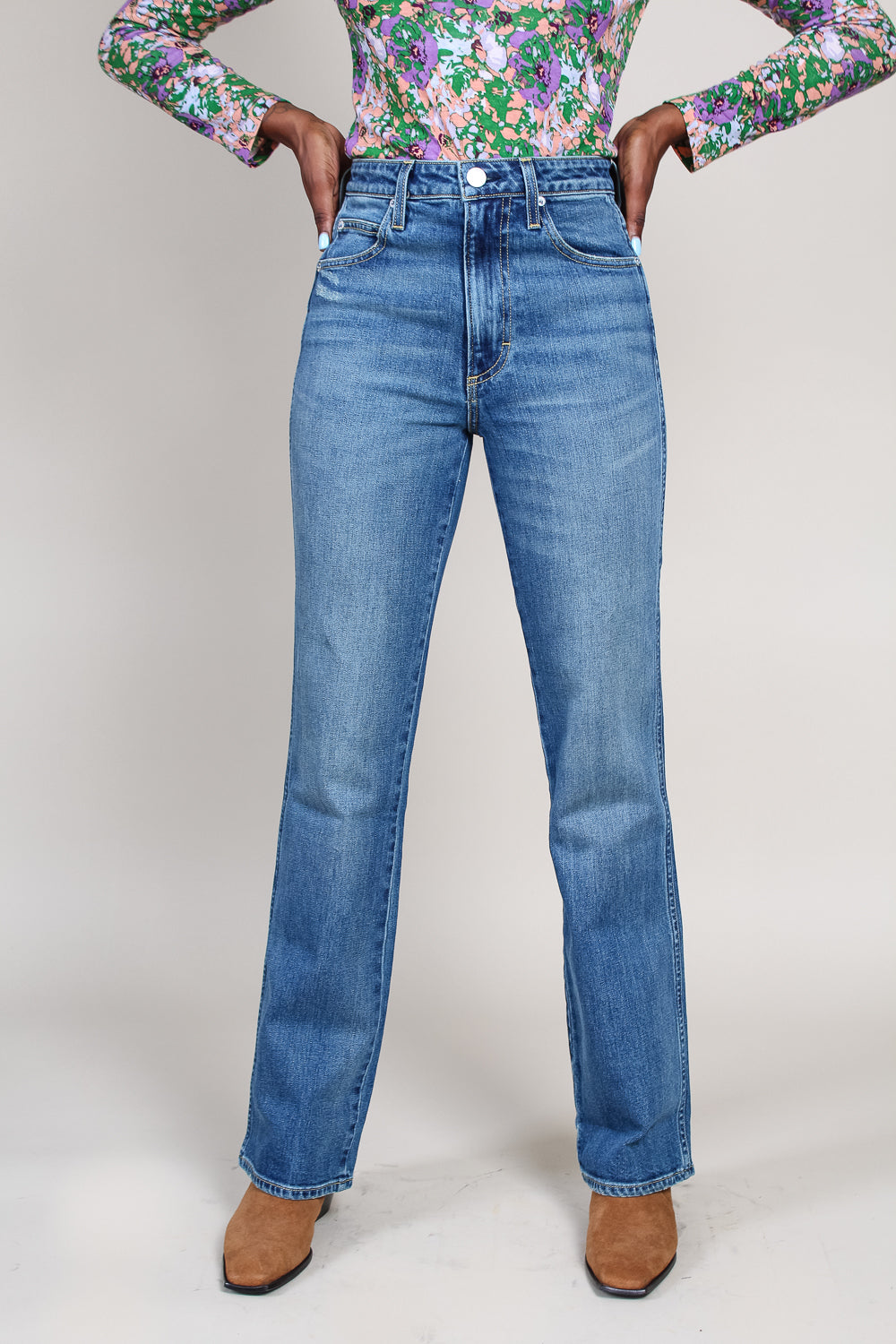 High Rise Kick Flare Jean in Stargazer