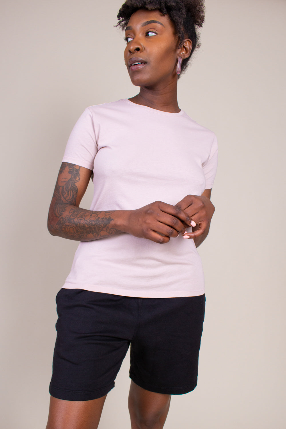 Layering Crew Tee in Tea