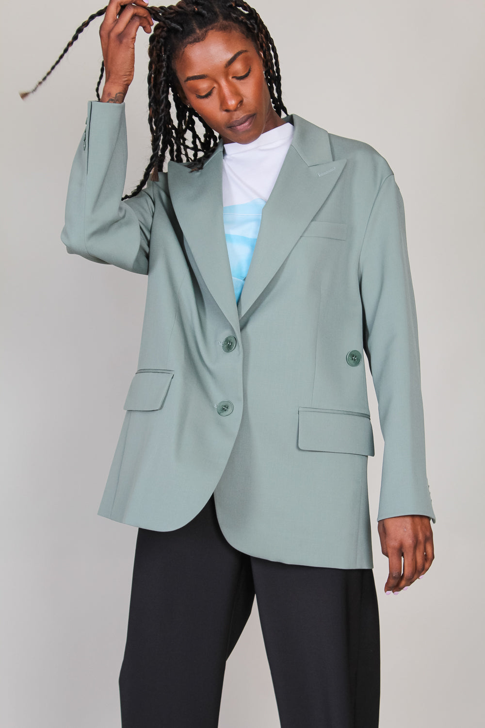 Cassius Liam Blazer in Dark Mint