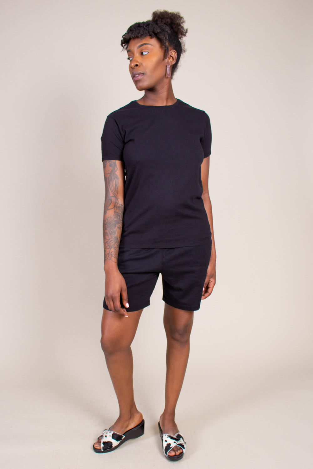 Layering Crew Tee in Black