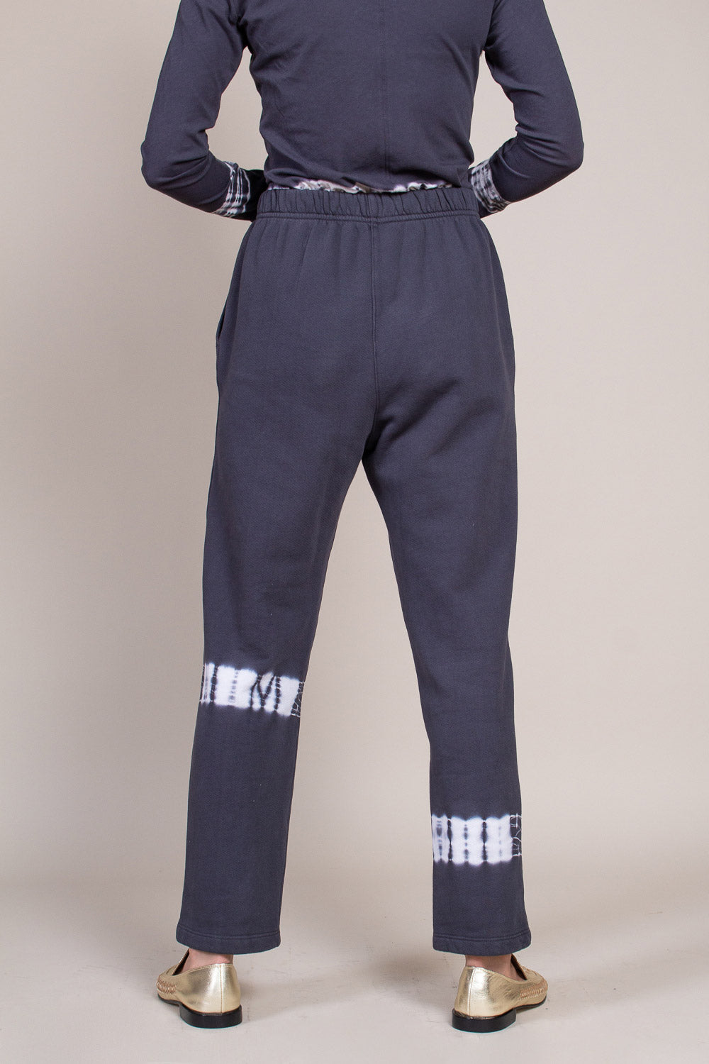 Ankle Pant in Charcoal Tie Dye