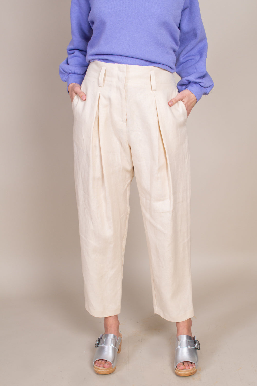 Hollis Pant in Natural