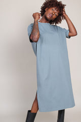 Back Draped Dress in Artichoke