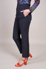 Tibi Anson Stretch Pant in Black - Vert & Vogue