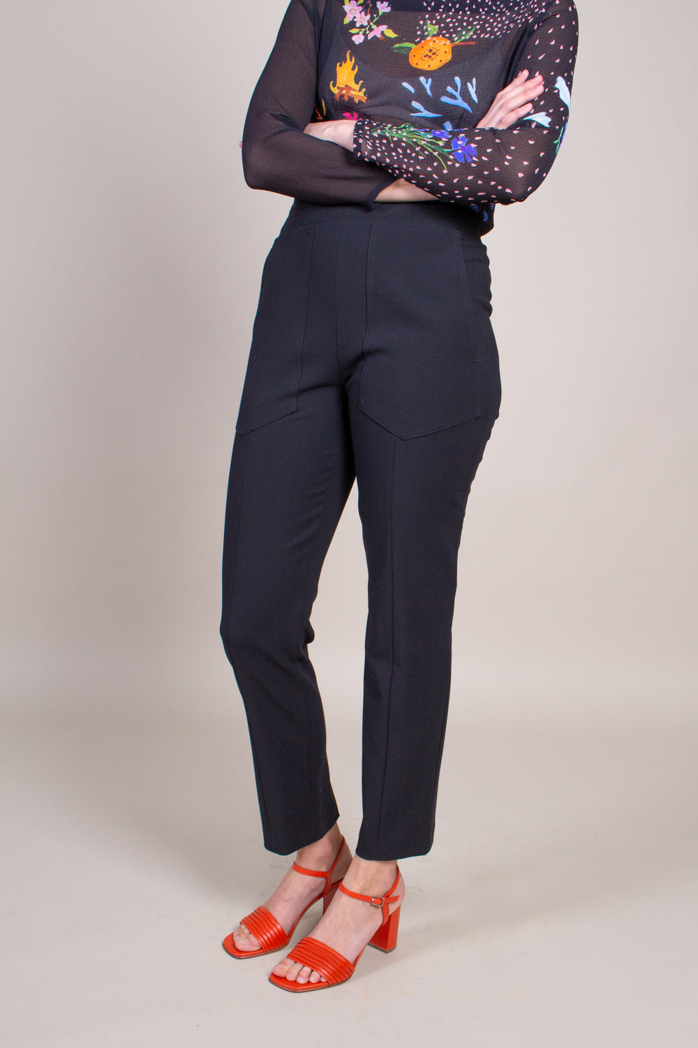 Anson Stretch Pant in Black