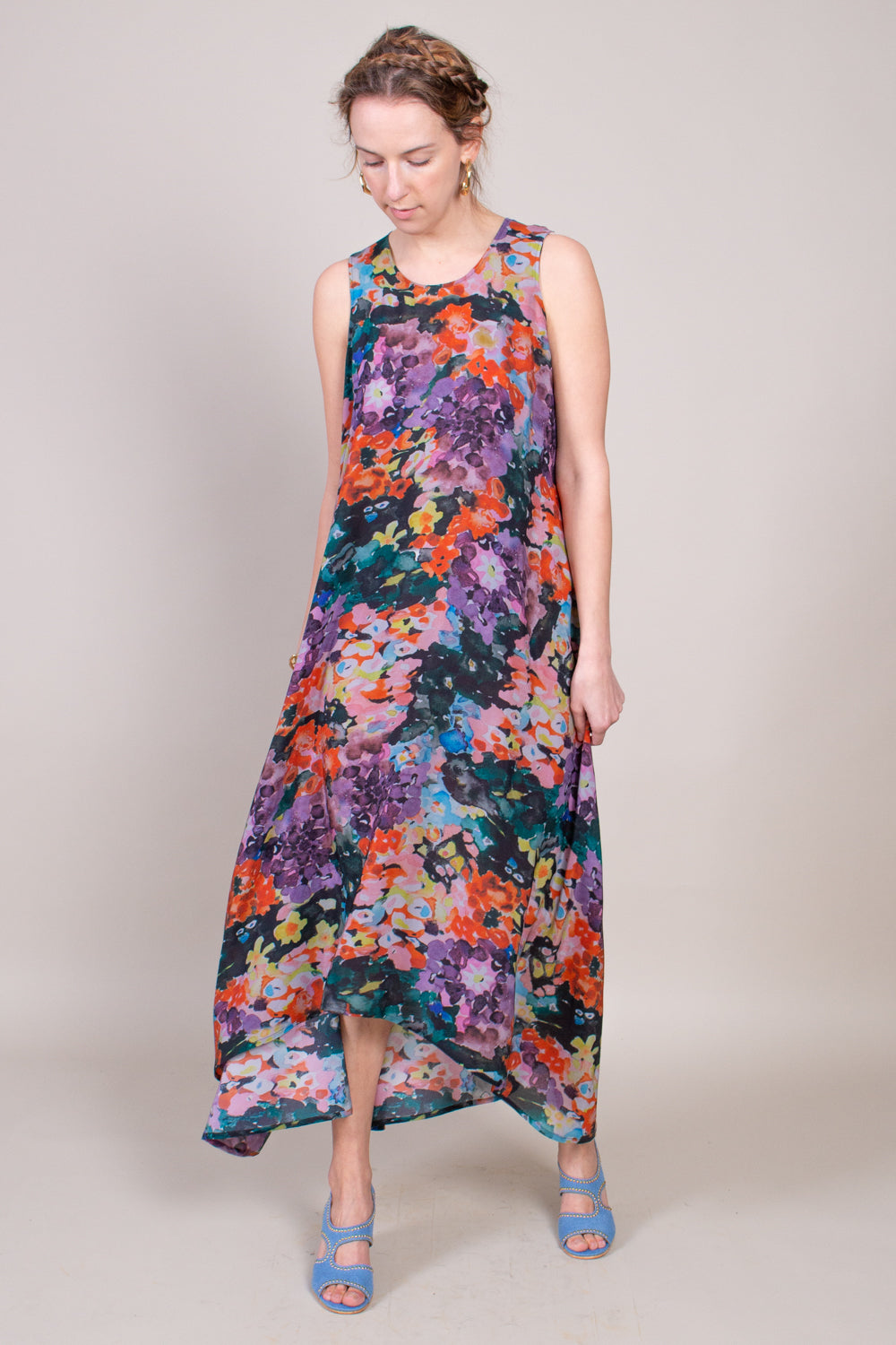 Anntian Dress in Flower Bouquet - Vert & Vogue