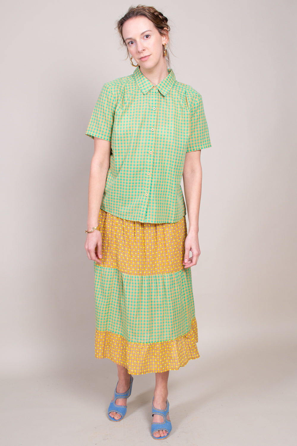 Ace and Jig Daphne Skirt in Cantaloupe - Vert & Vogue