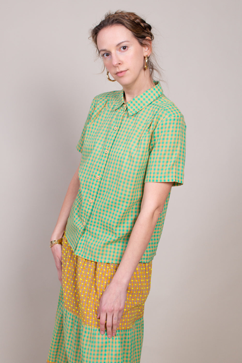 Ace and Jig Winnie Top in Cantaloupe - Vert & Vogue