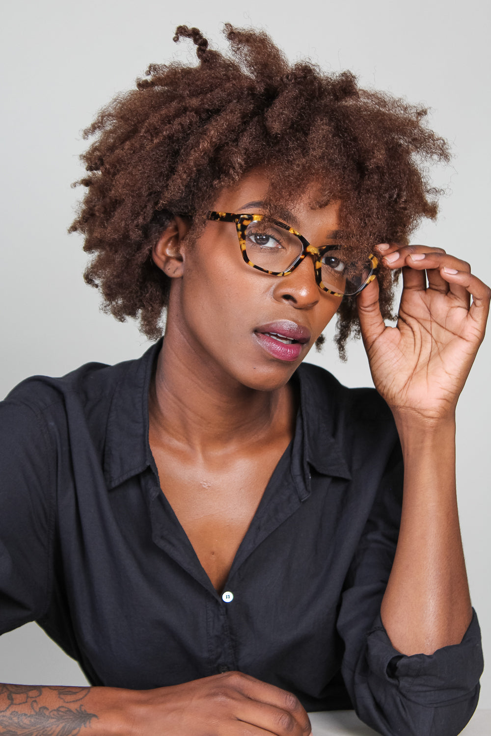 Mckenna Optical Glasses in Gold Marble