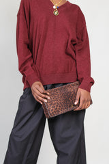 Clic Clac Clutch in Natural Leopard