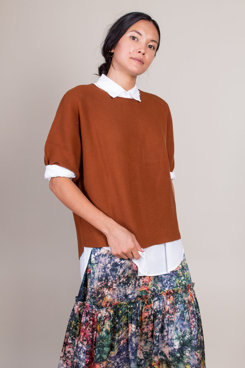 Koda Blouse in Chestnut