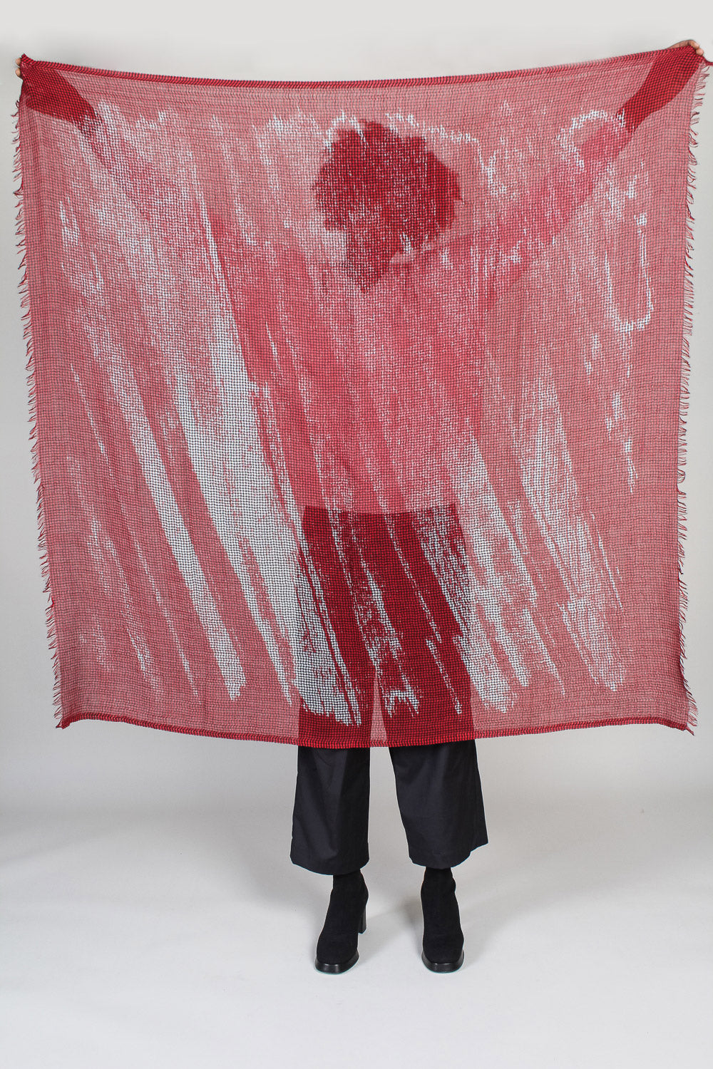 Ginga/Quadra Scarf in Red Paint