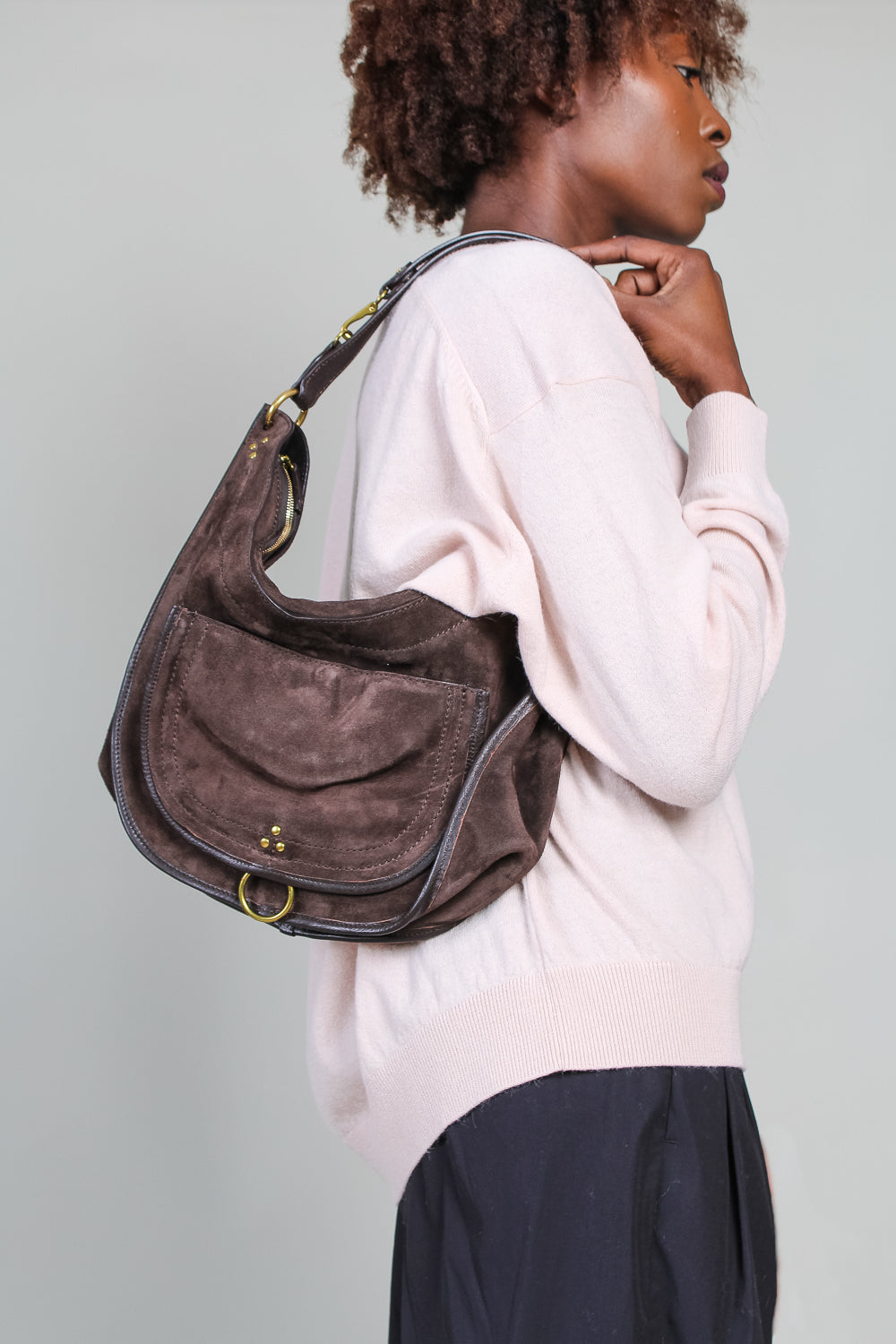 Medium Edgar bag in Moka