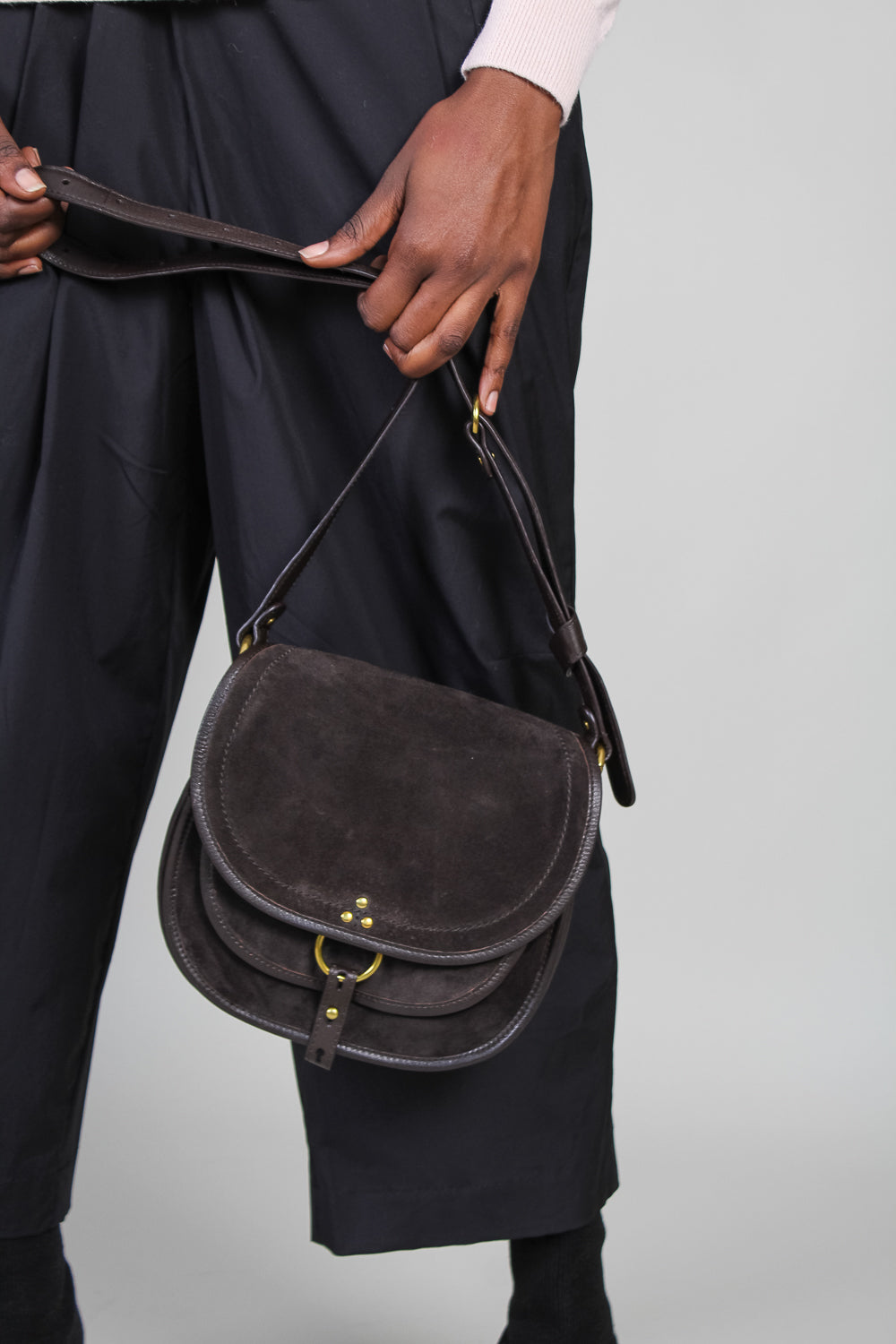 Medium Felix Crossbody Bag in Moka